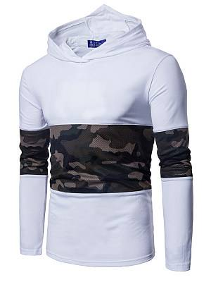 Berrylook Men Patchwork Camouflage Hoodie clothes shopping near me, sale,