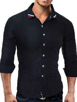 Berrylook Striped Turn Down Collar Men Shirts online shopping sites, shop, Stripes Men Shirts,