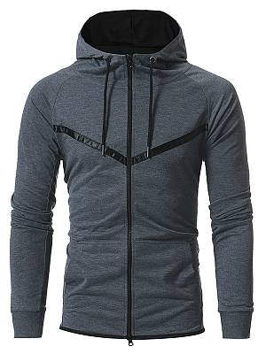 Berrylook Contrast Trim Patch Pocket Men Hoodie clothes shopping near me, stores and shops,