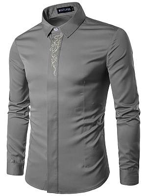 Berrylook Refined Embroidery Men Shirts sale, clothes shopping near me, Embroidery Men Shirts,