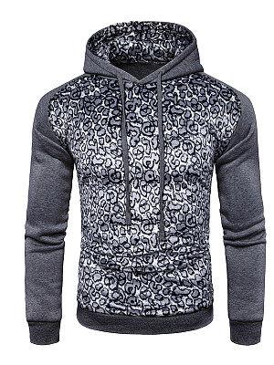 Berrylook Fitted Leopard Men Hoodie clothes shopping near me, online, Leopard Men Hoodies,
