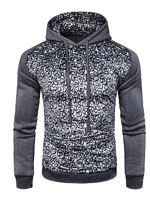 Berrylook Fitted Leopard Men Hoodie online shopping sites, clothes shopping near me, Leopard Men Hoodies,