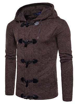 Berrylook Hooded Single Breasted Plain Men Coat sale, clothes shopping near me,