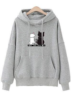 Berrylook Animal Prints Hoodie online shopping sites, clothes shopping near me, mens sweatshirts, women's sweatshirts