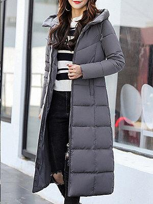 Berrylook Hooded Plain Coat clothes shopping near me, shoping, mens coats sale, fur hood coat womens