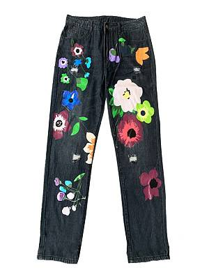 Berrylook Fashion plus size wash print casual multicolor high waist loose jeans shoppers stop, clothes shopping near me, leggings for girls, faux leather leggings