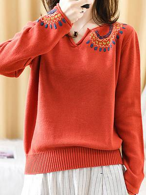 Berrylook Autumn and winter new style V-neck multicolor casual sweater clothes shopping near me, online, turtleneck sweater, red cardigan