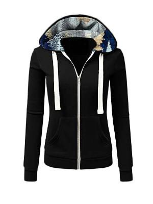 Berrylook Hat Collar Print Zip-up Long Sleeve Hoodie clothing stores, clothes shopping near me, cool sweatshirts, red hoodie