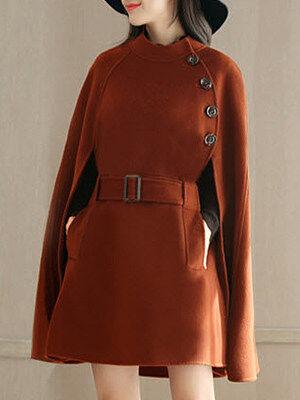 Berrylook Woolen Coat Shawl Cloak clothes shopping near me, stores and shops, womens warm winter coats, jackets
