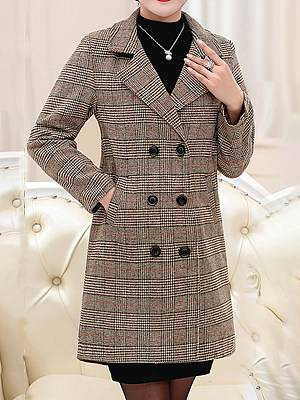 Berrylook Woolen autumn and winter plaid coat and cotton jacket clothes shopping near me, online stores, winter jackets for women on sale, red jacket womens