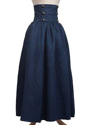 Berrylook Pure color high waist pleated retro big skirt clothes shopping near me, stores and shops, white jumpsuit, jumpsuit for girls