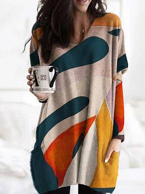Berrylook Printed Long Sleeves Casual T-shirt For Women sale, online shop, printing Long sleeve T-shirts,