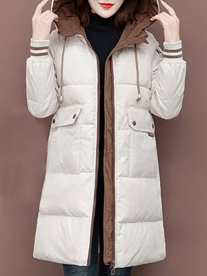 Berrylook Mid-Length Hooded Cotton Jacket clothes shopping near me, online stores, army jacket womens, military jacket women