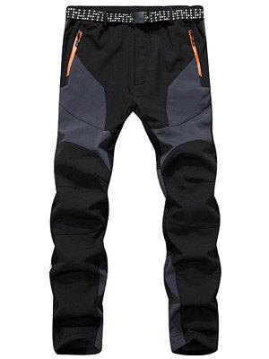 Berrylook Mens outdoor plus velvet waterproof mountaineering ski casual pant clothing stores, online shopping sites,