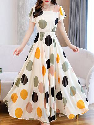 Berrylook Round Neck Floral Printed Maxi Dress shop, online shopping sites, floral maxi dress, homecoming dresses