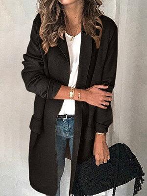 Berrylook Plain Pocket Casual Blazer sale, clothes shopping near me, navy blue blazer women, velvet blazer womens