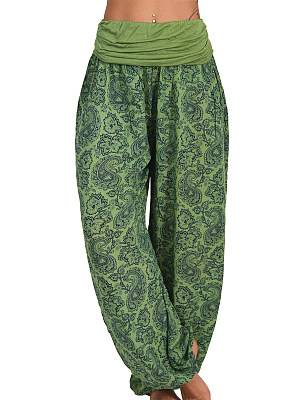 Berrylook Printed Long Wide-leg Slacks online stores, clothes shopping near me,