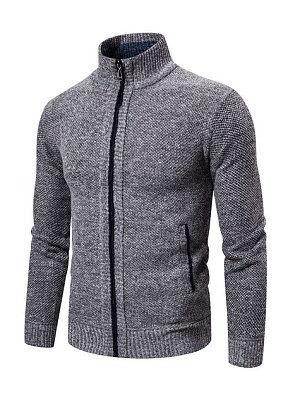Berrylook Men's striped casual outdoor sports casual cardigan sweater online sale, online,