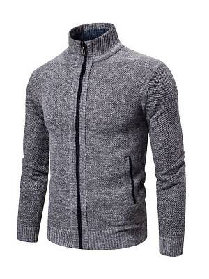 Berrylook Men's striped casual outdoor sports casual cardigan sweater online, shoping,