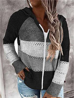 Berrylook Autumn And Winter Zipper Hooded Long-Sleeved Sweater online shop, clothes shopping near me, cardigan sweater, sweater