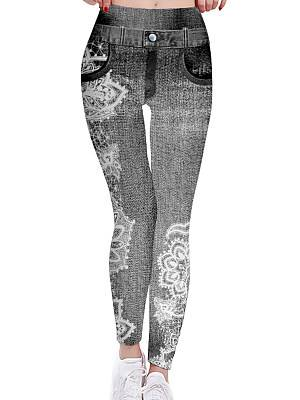 Berrylook Fashion plus size digital printing casual high waist leggings clothes shopping near me, online shopping sites, jeggings, sequin leggings
