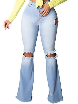 Berrylook Fashionable knee-hole stretch skinny jeans online sale, clothes shopping near me, white leggings, leggings for girls