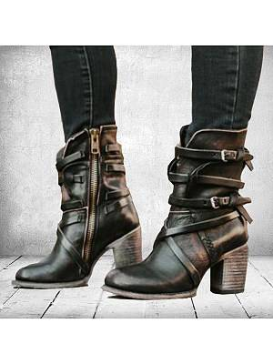 Berrylook Plain Round Toe Casual Outdoor Boots online shopping sites, shoping,