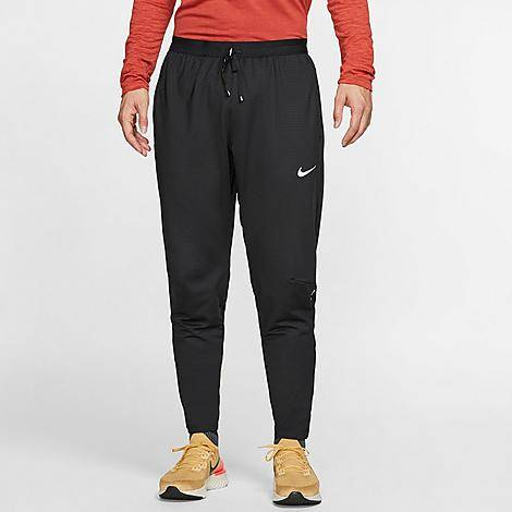 Nike Men's Phenom Elite Knit Training Pants in Black/Black Size Large Polyester/Spandex/Knit