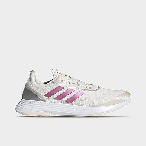 Adidas Women's QT Racer Sport Casual Shoes in White/Chalk White Size 6.0 Leather/Plastic