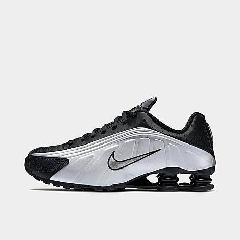 Nike Men's Shox R4 Casual Shoes in Grey/Black Size 10.0 Leather