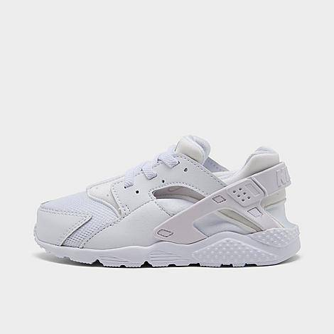 Nike Boys' Toddler Huarache Run Casual Shoes in White/White Size 5.0 Suede