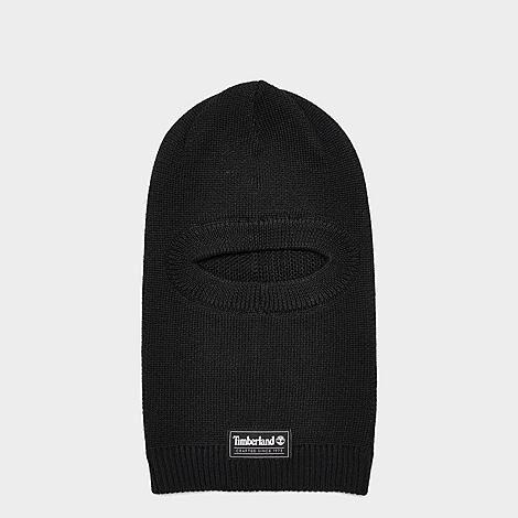 Timberland Men's Knit Balaclava in Black/Black Acrylic/Knit