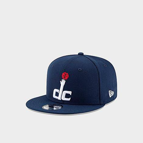 New Era Washington Wizards Basic 9FIFTY Snapback Hat in Blue/Navy Polyester