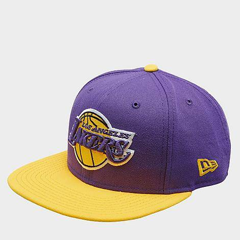 New Era Los Angeles Lakers NBA 9FIFTY Snapback Hat in Yellow/Purple/Purple Polyester