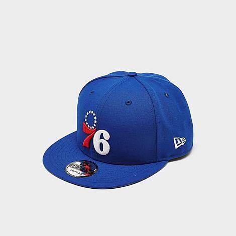 New Era Philadelphia 76ers NBA 9Fifty Snapback Hat in Blue/Royal Blue 100% Polyester