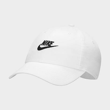 Nike Sportswear Heritage86 Futura Washed Adjustable Back Hat in White/White 100% Cotton/Twill