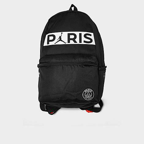 Nike Jordan Paris Saint-Germain Daypack Backpack in Black/Black 100% Polyester