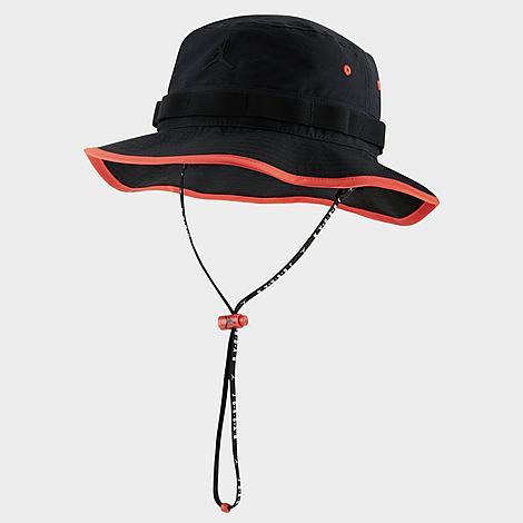 Nike Jordan Jumpman Bucket Hat in Black/Black Size Large/X-Large Cotton/Nylon/Spandex