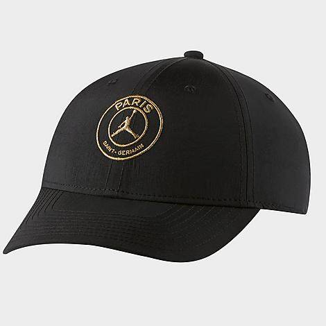 Nike Jordan Paris Saint-Germain Legacy91 Adjustable Back Hat in Black/Black 100% Nylon