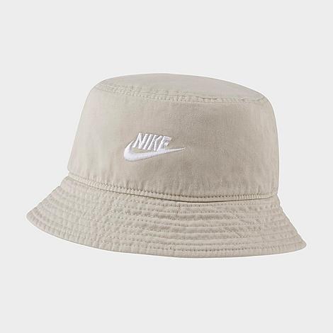 Nike Sportswear Futura Washed Bucket Hat in Off-White/Light Bone Size Large/X-Large 100% Cotton/Twill
