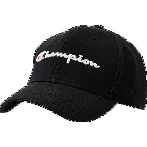 Champion Classic Twill Hat in Black/Black Cotton/Twill