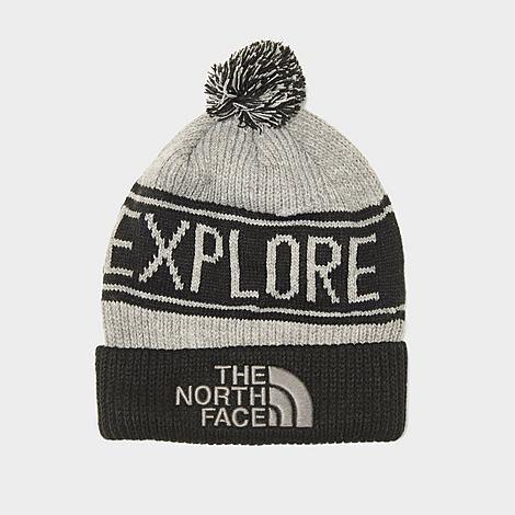 The North Face Inc Retro TNF™ Pom Beanie Hat in Grey/TNF Medium Grey Acrylic/Knit