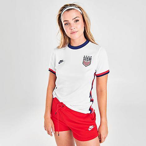 Nike Women's U.S. Soccer 2020 Stadium Home Jersey in White/White Size X-Small Polyester/Jersey