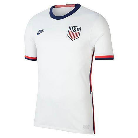 Nike Men's U.S. Soccer 2020 Stadium Home Jersey in White/White Size Large Polyester/Jersey