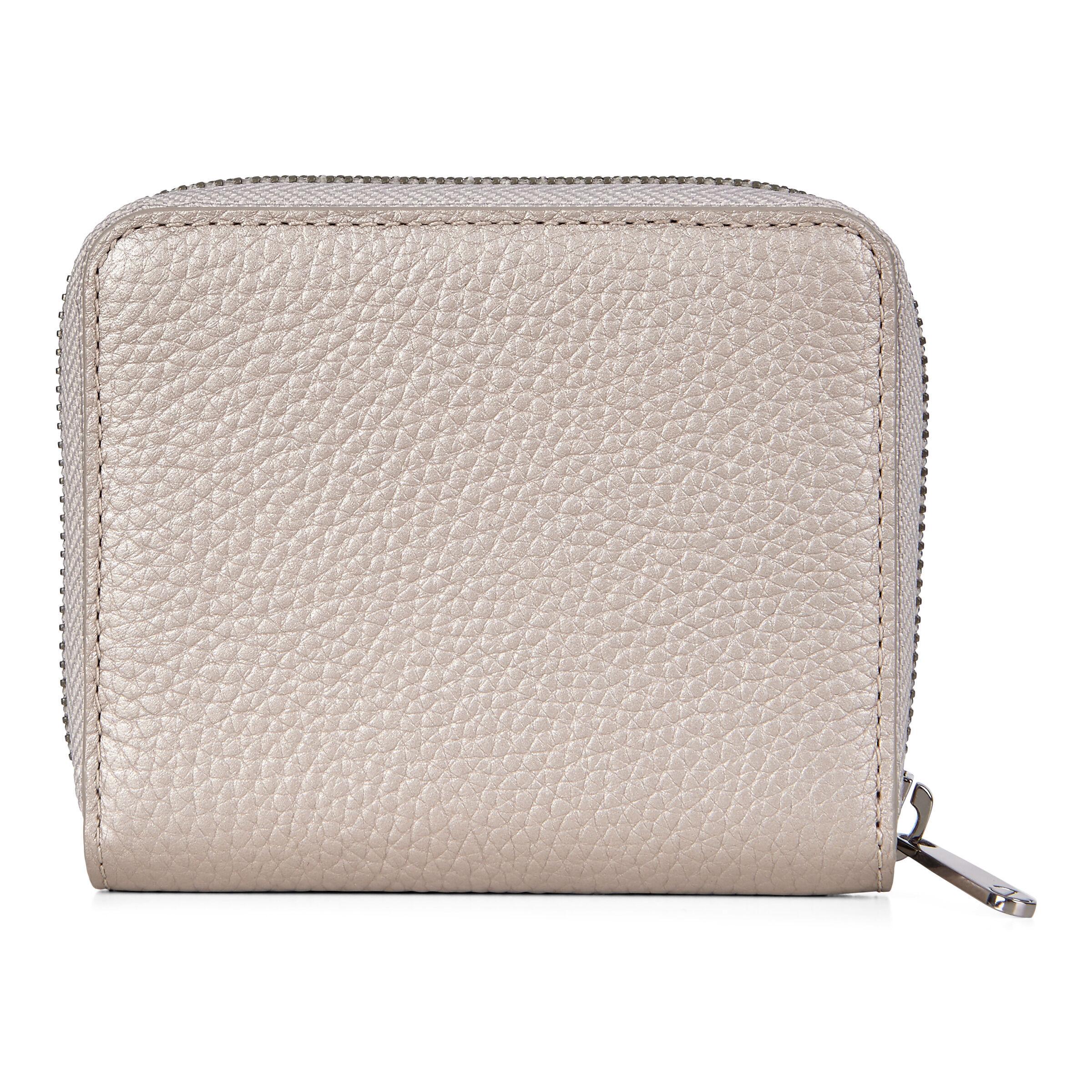 ECCO Sp 3 Small Zip Around Wallet: One Size - Grey Rose Metallic