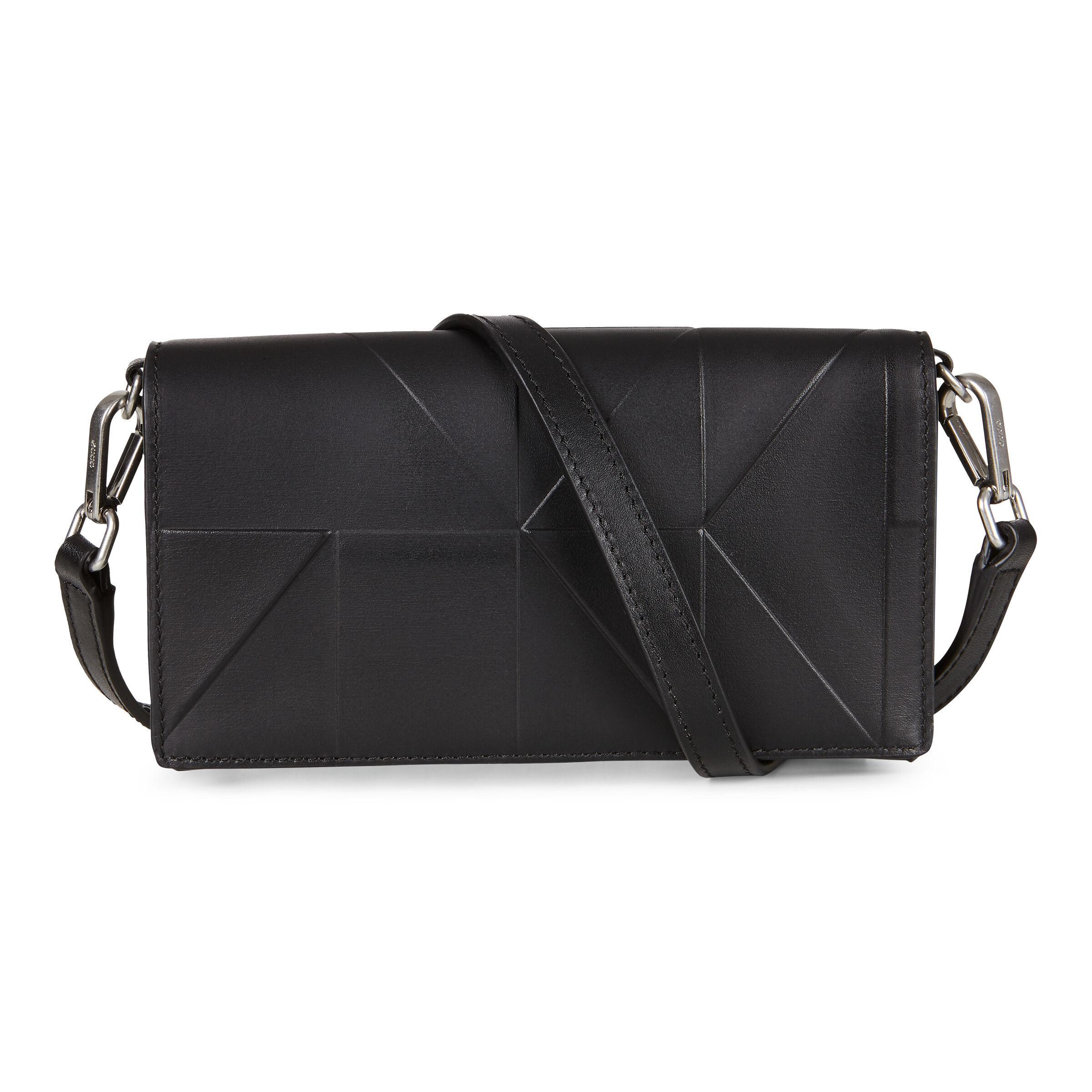ECCO Geometrik Crossbody Wallet: One Size - Black