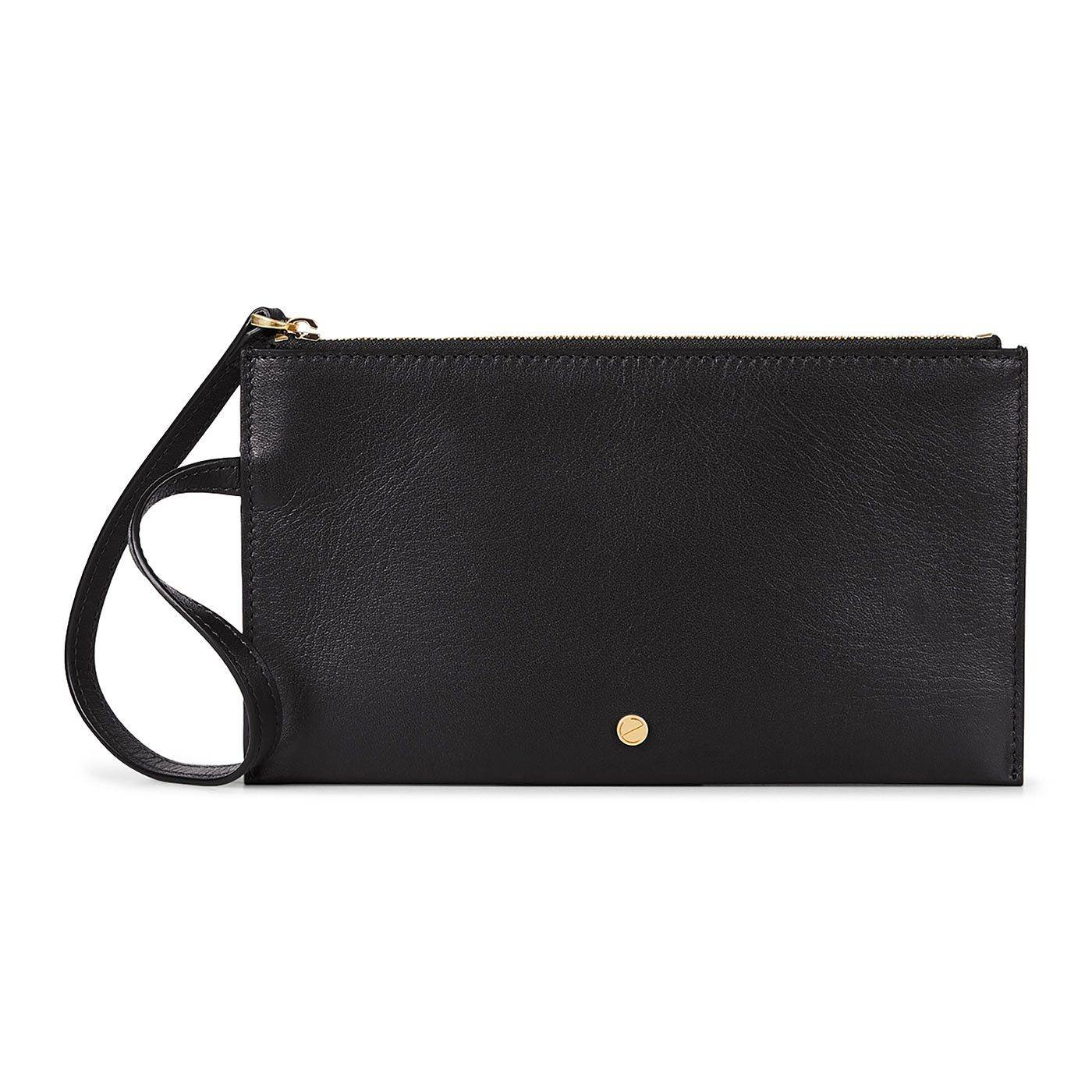 ECCO Sculptured Pouch Wallet: One Size - Black