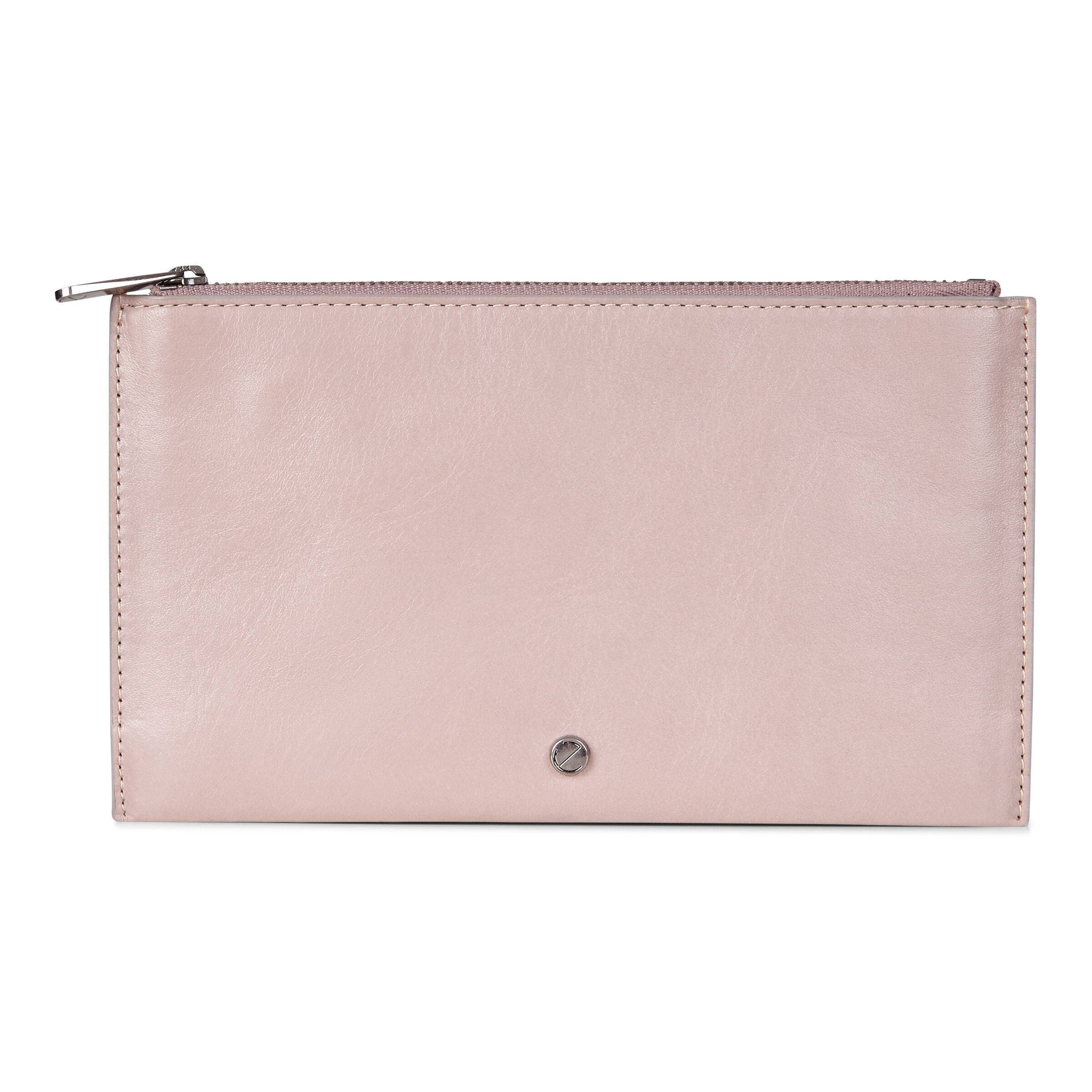 ECCO Sculptured Pouch Wallet: One Size - Grey Rose