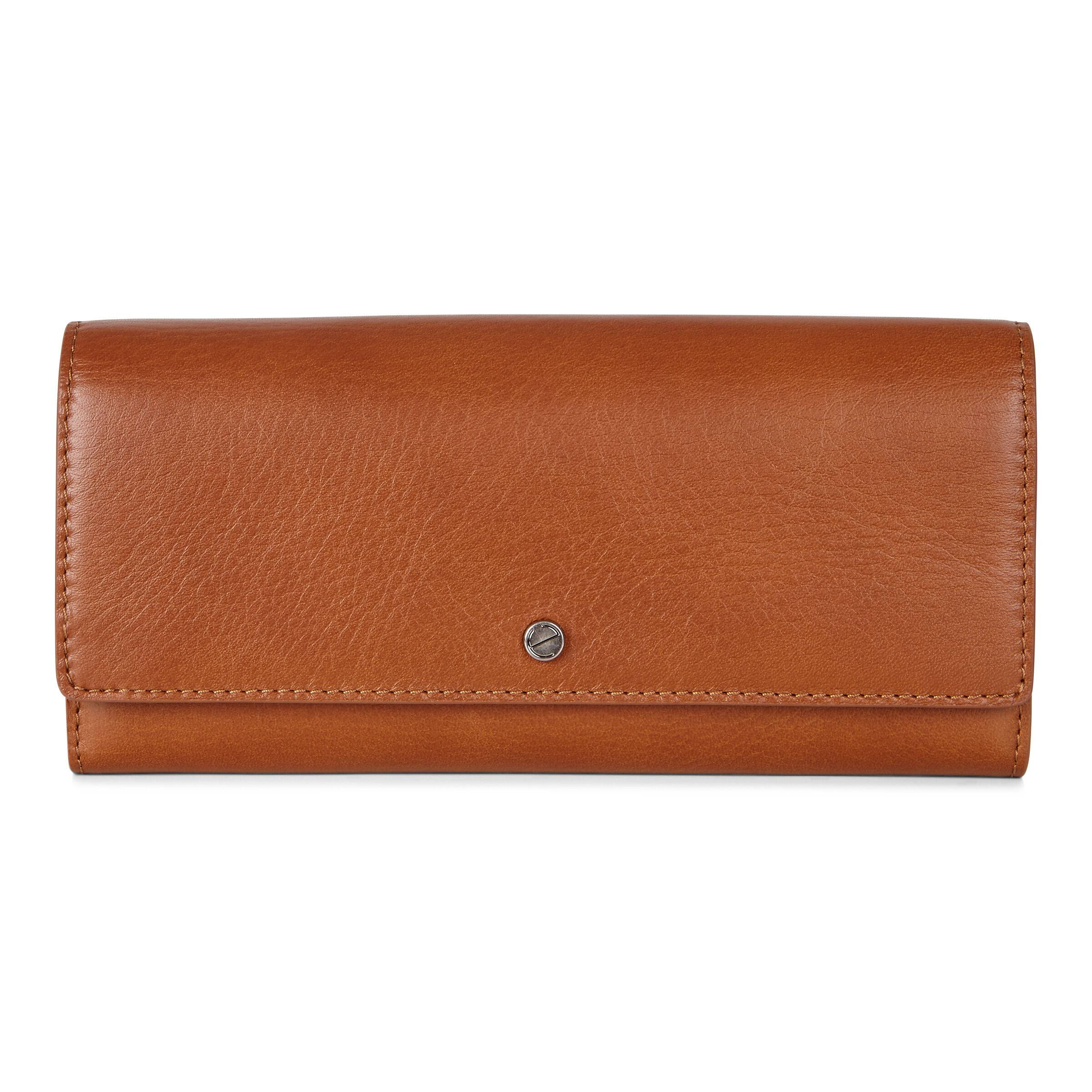 ECCO Sculptured Continental Wallet: One Size - Amber