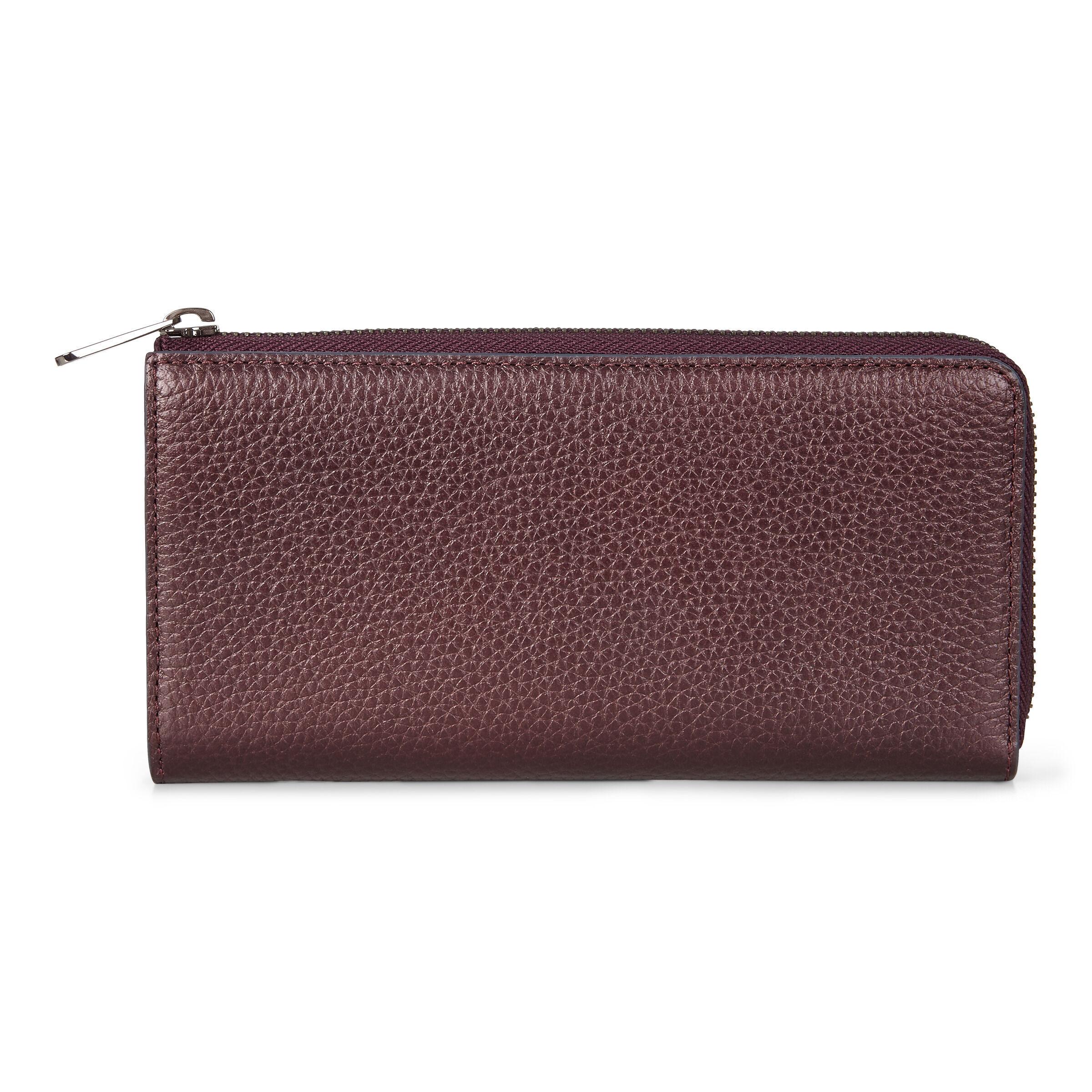 ECCO Sp 3 Zip Around Wallet: One Size - Fig Metallic